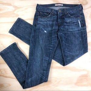 J Brand Steve Boyfriend Jeans Clyde wash distress